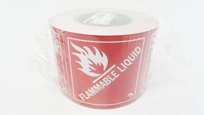 BRADY 121067 4 x 4 White/Red Flam Liquid Sign B-7569 pkg/ 500