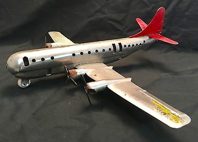 Vintage 1940's Wyandotte Air Force Boeing Stratocruiser Metal Toy Military Plane