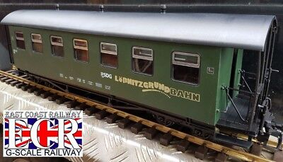 G SCALE 45mm GAUGE SDG LOBNITZGRUND RAILWAY PASSENGER GREEN CARRIAGE TRAIN COACH