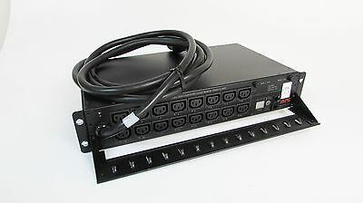APC AP7911A  200-240V 24A 50/60Hz Switched Rack PDU 16-Outlet