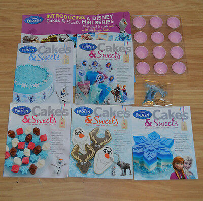 Joblot Of 5 Disney Frozen  Cakes And Sweets  Magazine By Eaglemoss  & Few Gifts