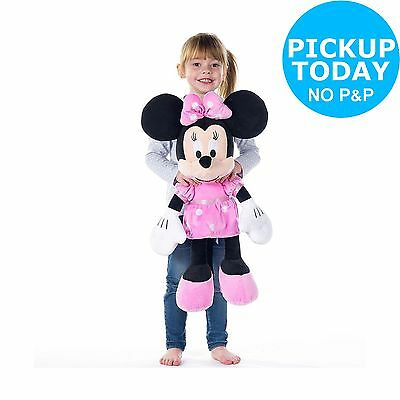 Disney Minnie Mouse Jumbo 24 Inch Soft Toy - Pink