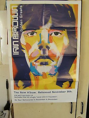 "IAN BROWN DOUBLE SIDED POSTER  28""inch x 18 inch"