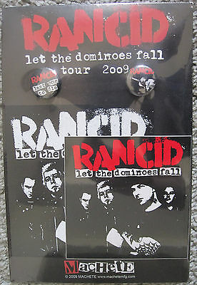 2009 RANCID Badge, Sticker, Patch, Button Set NEW SEALED FROM 2009 TOUR