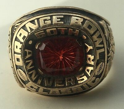 1984 Nebraska Cornhuskers Orange Bowl Football Players Ring