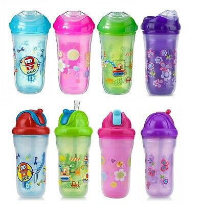Nuby Insulated Cups 12m+ Flip-It Straw  / 18m+ Spout Beaker 9oz / 270ml