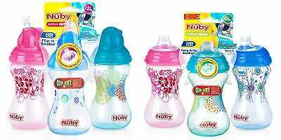 Nuby Cup / Beaker 6m+ Spout or 12m+ Flip-It Straw - 10oz / 300ml