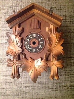 Antique Black Forest Cuckoo Clock Case For Restoration Or Spare Parts 20x15x12cm
