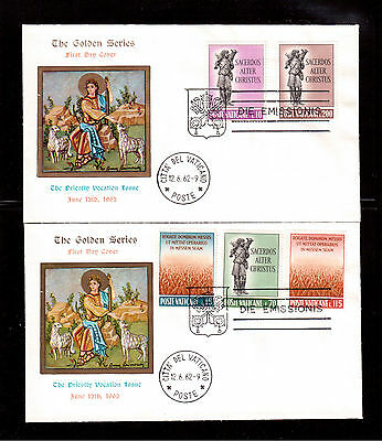 Vatican 1962 Set Of 2 First Day Covers # 330/34 To Honor The Priesthood !!
