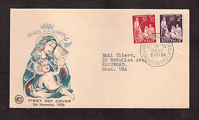 Australia 1958 First Day Cover, # 312/13 Christmas !!