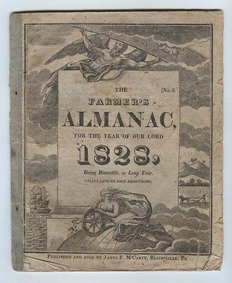 1828 Farmers Almanac Being Bissextile, or Leap Year - EXTREMELY RARE