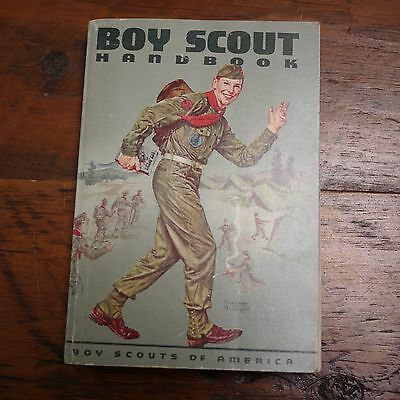 1964 Genuine BSA BOY SCOUT HANDBOOK 6th Edition Color Illustration Book
