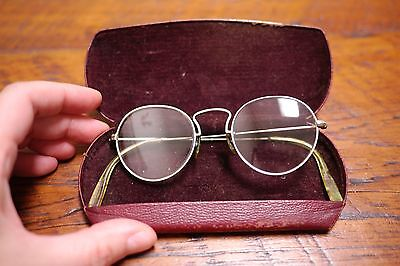 Antique Vtg 12kgf Gold Filled Bausch Lomb Round Spectacle Gandhi Lennon Glasses