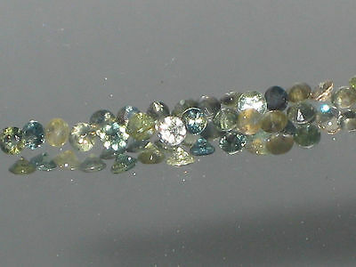 Sapphire,natural Australian parti sapphires, 2 mm round,SI, pk of 5