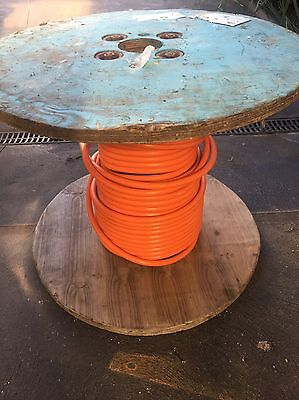 55 METERS 10mm 2Core and Earth Orange Circular TPS Electrical Cable 55mtrs