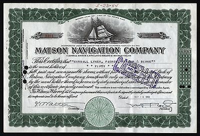1944 California: Matson Navigation Company - issued to Merrill Lynch