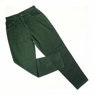 Vintage 80s Americano Khaki Green High Waisted Mom Jeans W29 L30 UK 10
