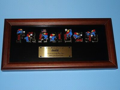 FIFA World Cup '98 France Coca Cola Collector PIN Set Special Edition