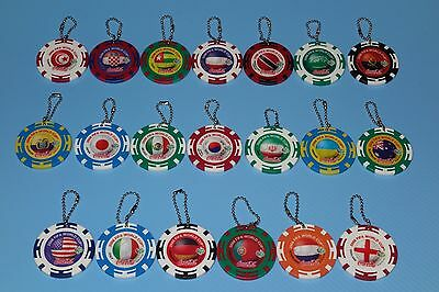 FIFA World Cup 2006 Germany Coca Cola Key Chain set of 20