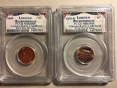 2009 Birthplace P & D Uncirculated Lincoln Cent PCGS First Day of Issue