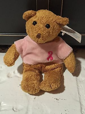 Avon Breat Cancer Crusade Stuffed 7in Bear. 1970's with tag