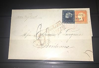 Mauritius 1848 #1-2 Queen Victoria Cover Forgery