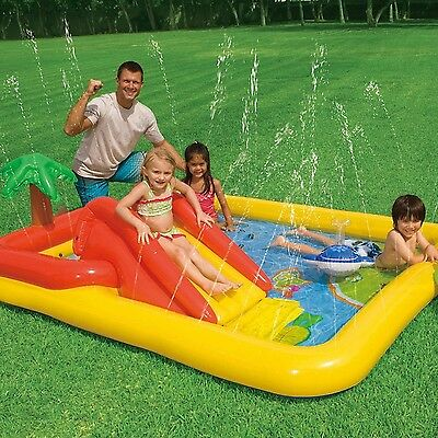 """Intex Ocean Inflatable Play Center 100"""" X 77"""" X 31"""" for Ages 2+"""