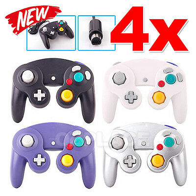 Premium New 4x Dual Shock GameCube Controller For Nintendo Wii GC NGC Gamepad