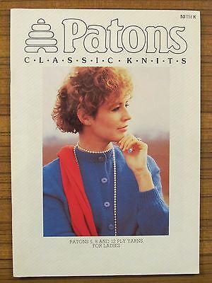 Patons Knitting - 53 Classic Knits  For Ladies 5 8 & 12 Ply Wool