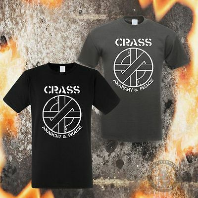 CRASS ANARCHY & PEACE T-SHIRT (2 Farben,S-5XL)