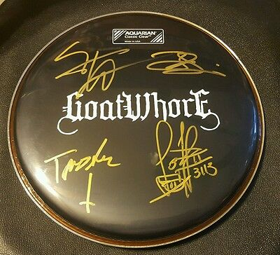 Rare! GOATWHORE Autographed Drumhead by All!
