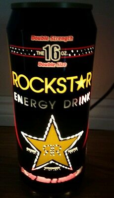 ROCKSTAR Energy Drink Can Shaped LAMP Tested working BEVERAGE Light PLUG IN
