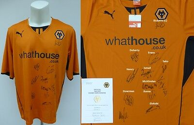 2013-14 Wolves Champions Home Shirt Signed by Squad with Official COA (11076)