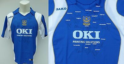 2006-07 Portsmouth Home Shirt Squad Signed inc. Redknapp Campbell & Kanu (11078)