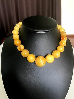Antique/Vintage Baltic Amber stone necklace/beads (41.7 g.) 43E