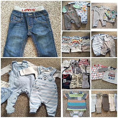 **Huge Bundle Baby Boy 0-3 Months Clothes Over 40 Items. Ex Cond** Some Designer
