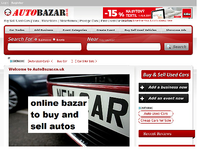 AUTOBAZAR.co.uk - Premium Domain Name for online buy and sell vehicles