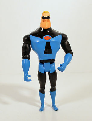 "2004 Blue Mr Incredible 4.75"" Action Figure Disney Pixar Incredibles"