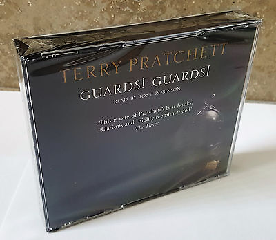 GUARDS! GUARDS! Discworld Novel 8 Terry Pratchett 3 Audio CDs NEW SEALED