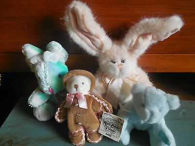 Small Group of plush bunnies and Bears