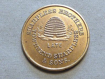 Rare 1850's Pre Civil War Token - Sharpless Brothers With Bee Hive - Item 104