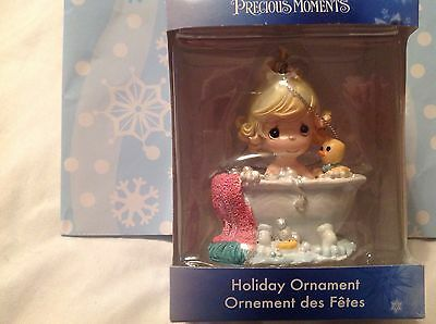 Precious Moments Ornament 2015 Girl in bath tub