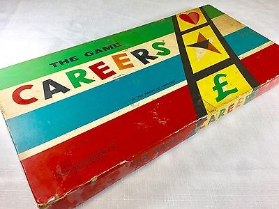 CAREERS The Game VINTAGE BOARD GAME - 100% COMPLETE -1950s Pre-Decimal Currency