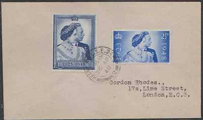 SG:493/4;1948 Silver Wedding on plain 1st day cover;Cat £ 425.00