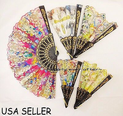 1 PC Chinese/ Japanese Folding Fan/ HAND FAN *Colors May Vary* USA SELLER