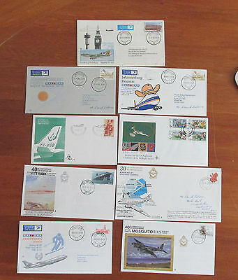 X 9  South Africa Stamps  First Day Cover MINT BULK LOT OF NINE FIGHTER PLANES