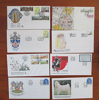 RSA  X 8   South Africa Stamps  ,  First Day Cover MINT BULK LOT OF eight