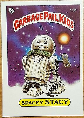 Spacey Stacy 13b Garbage Pail Kids (1985) UK 1st Series Sticker/Vintage/Topps