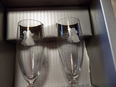 Kerenza Collection I Give You My Love Fluted Precious Moments Wedding Glasses