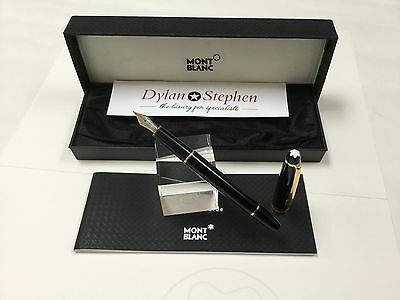 montblanc meisterstuck 144 fountain pen  with all boxes + 14K medium nib